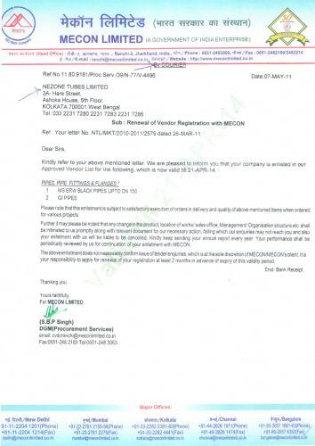 Nezone Mecon Certificate