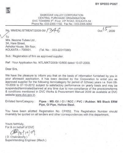 Nezone DVC Certificate
