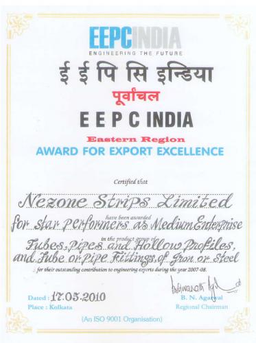 Nezone Award For Export Excellence